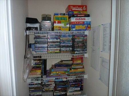 Toy and DVD Closet